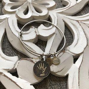 Mothers Hand Alex & Ani Silver Tone Bracelet